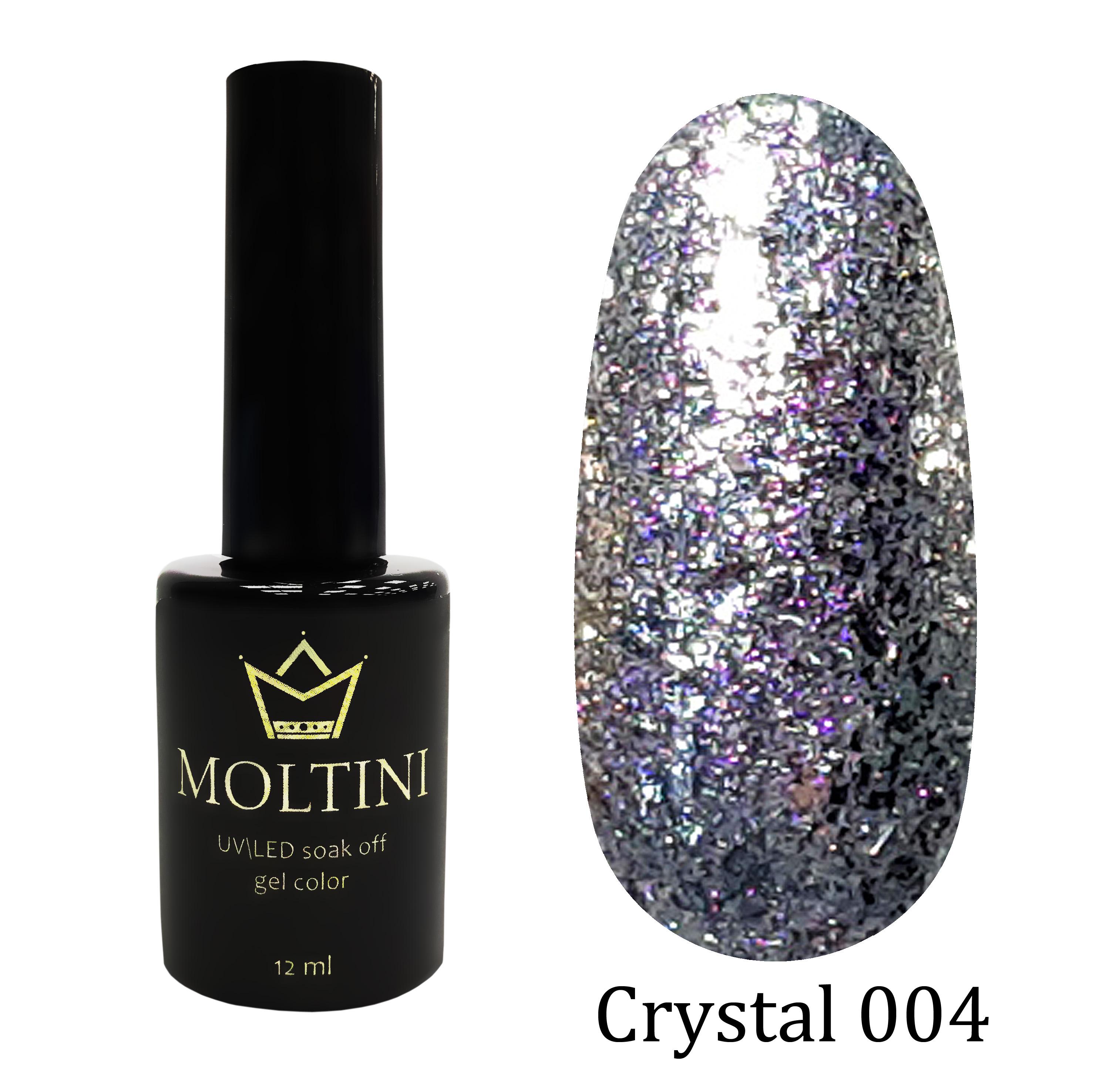 Гель-лак Moltini Crystal 004, 12 ml