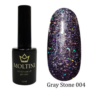 Гель-лак Moltini Gray Stone 004, 12 ml