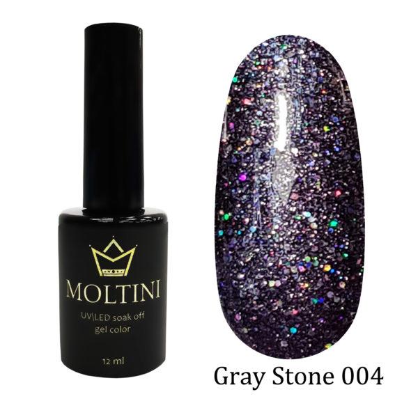 Гель-лак Moltini Gray Stone 004, 12 ml