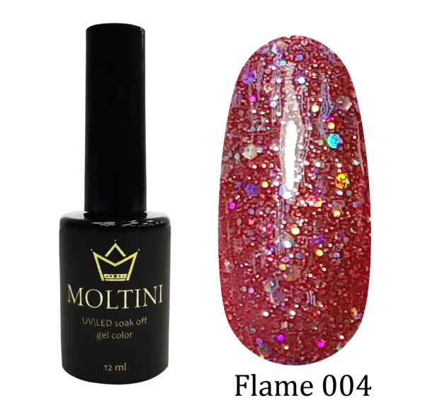 Гель-лак Moltini Flame 004, 12 ml