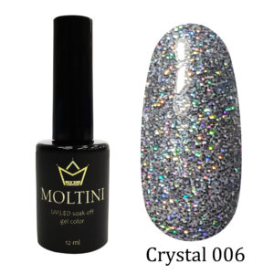 Гель-лак Moltini Crystal 006, 12 ml