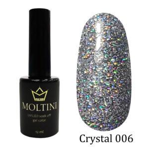 Гель-лак Moltini Crystal 006, 12 ml