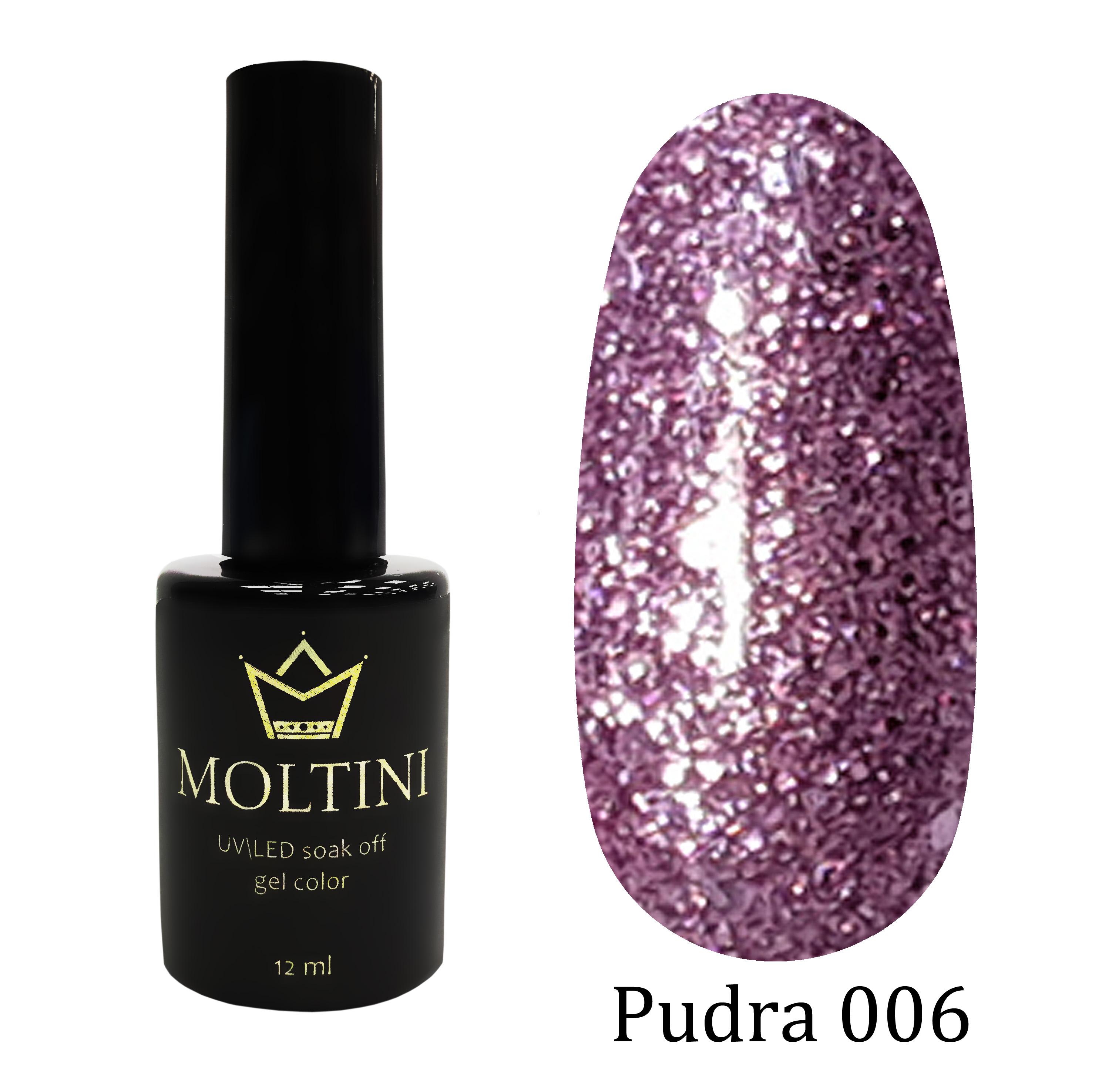 Гель-лак Moltini Pudra 006, 12 ml
