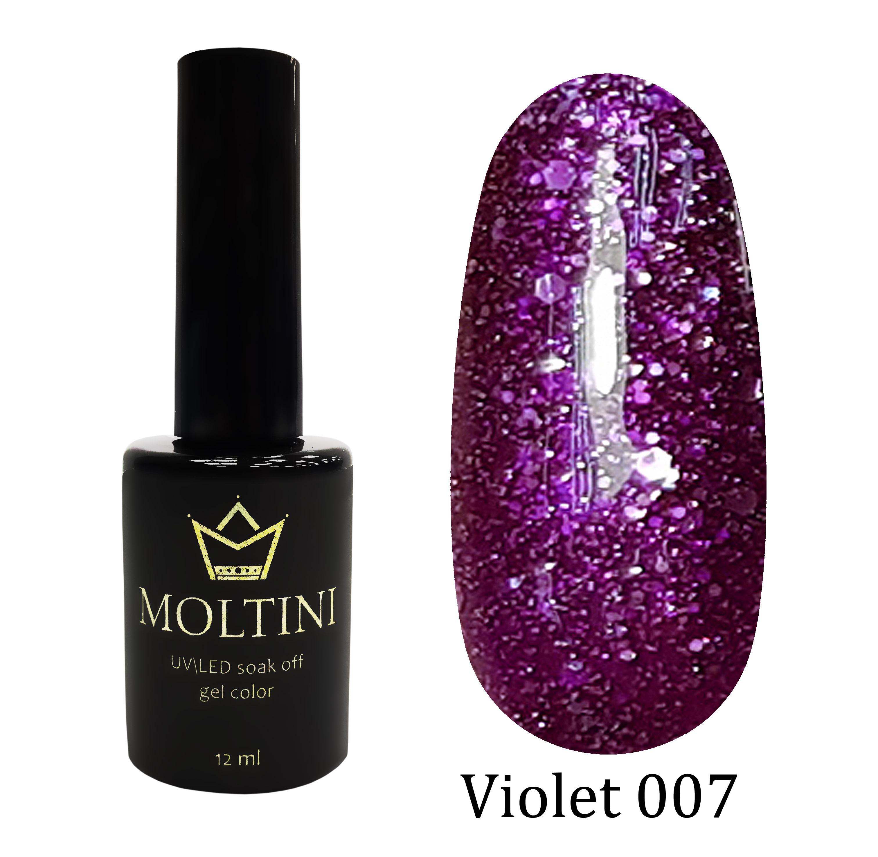 Гель-лак Moltini Violet 007, 12 ml