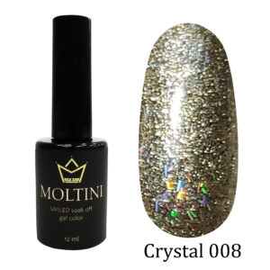 Гель-лак Moltini Crystal 008, 12 ml