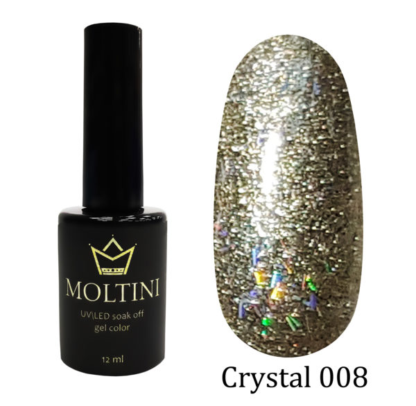 Гель-лак Moltini Crystal 008, 12 ml