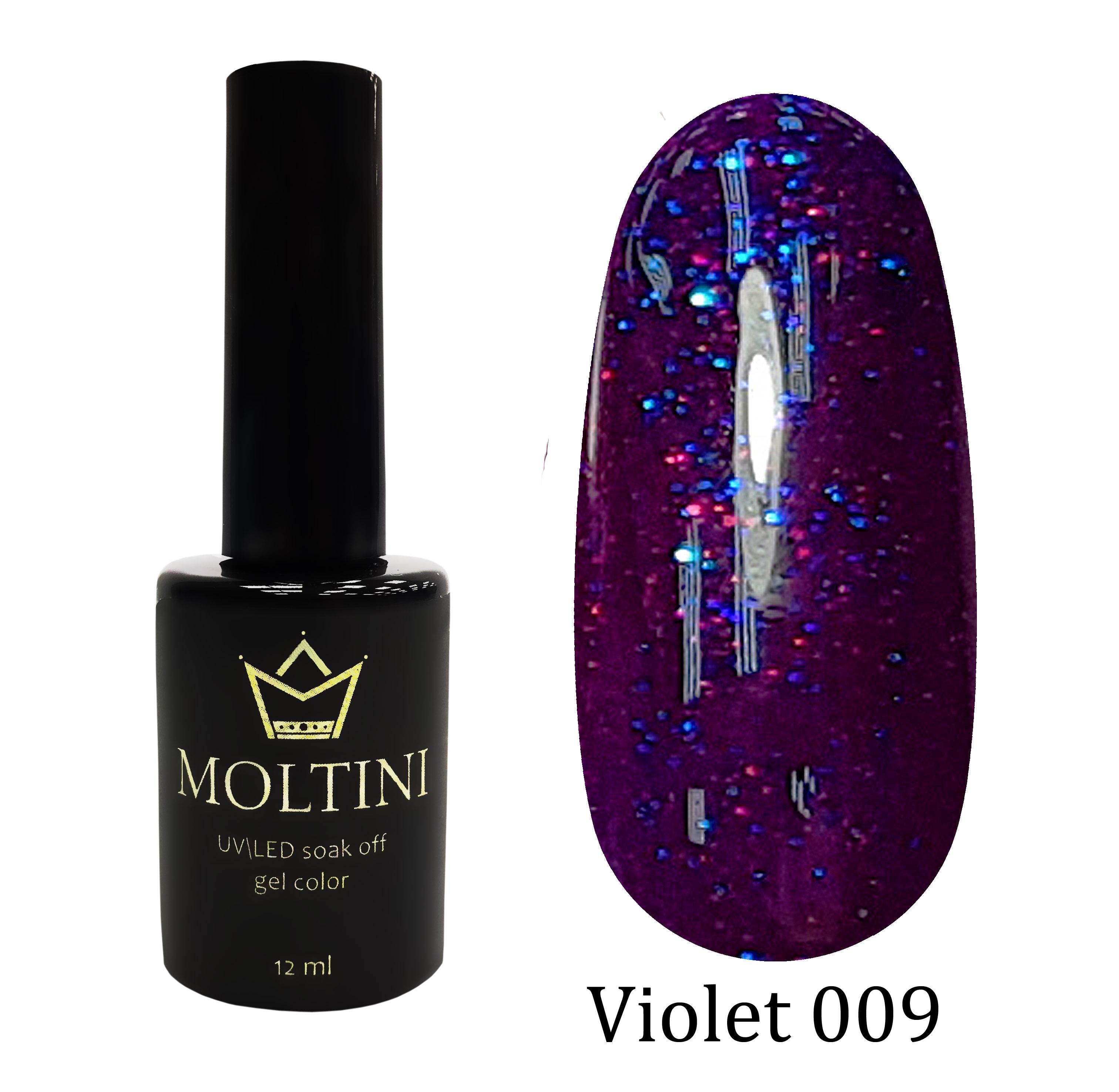 Гель-лак Moltini Violet 009, 12 ml