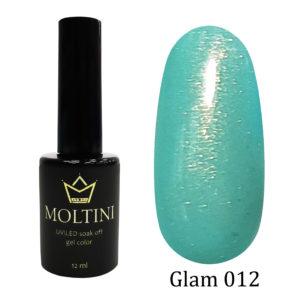 Гель-лак Moltini Glam 012, 12 ml. Акция (годен до 12.2021 г.)