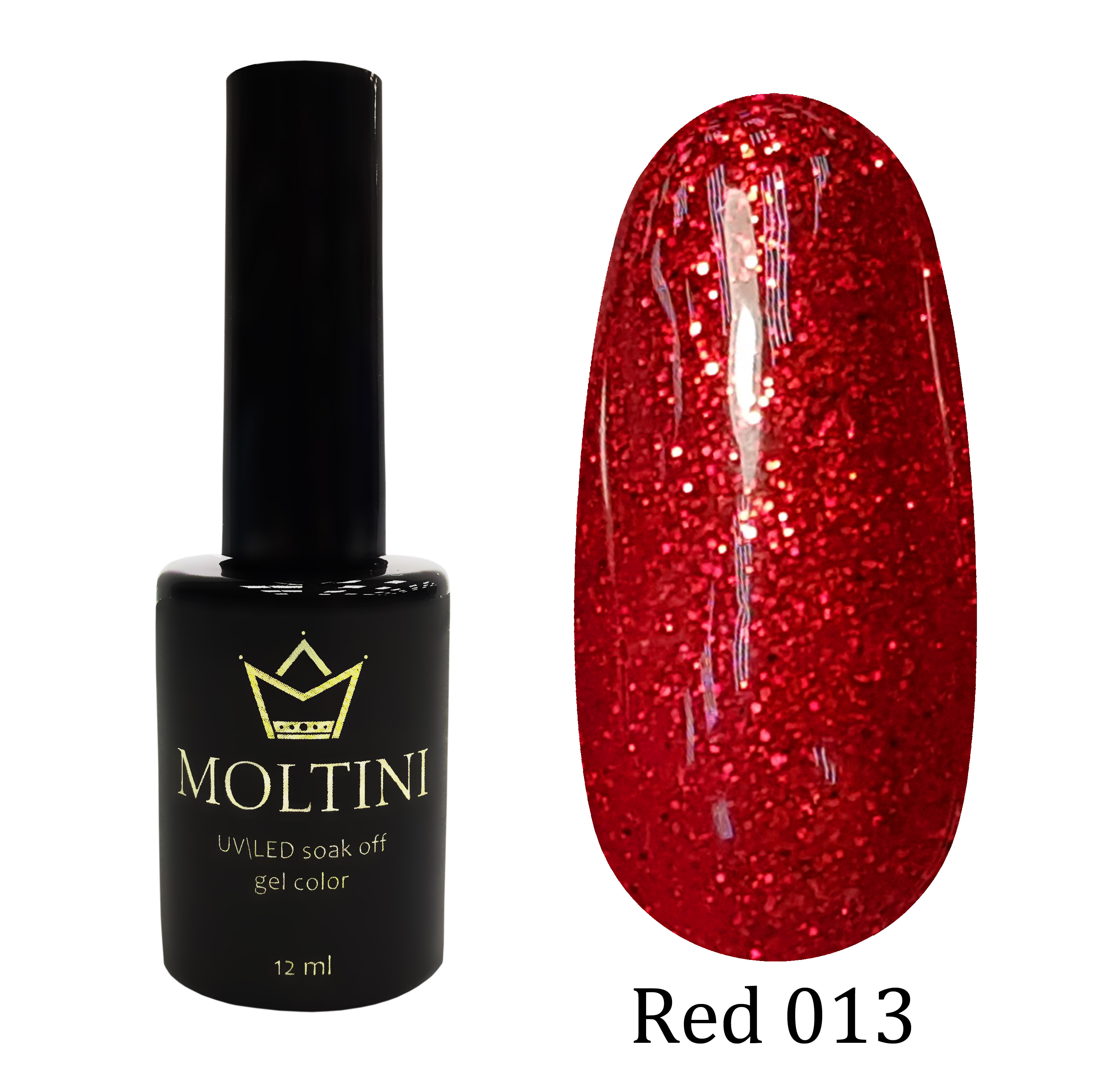 Гель-лак Moltini RED 013, 12 ml