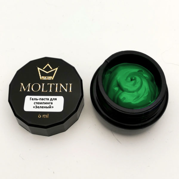 Гель-паста для стемпинга Moltini, зеленый 6 ml
