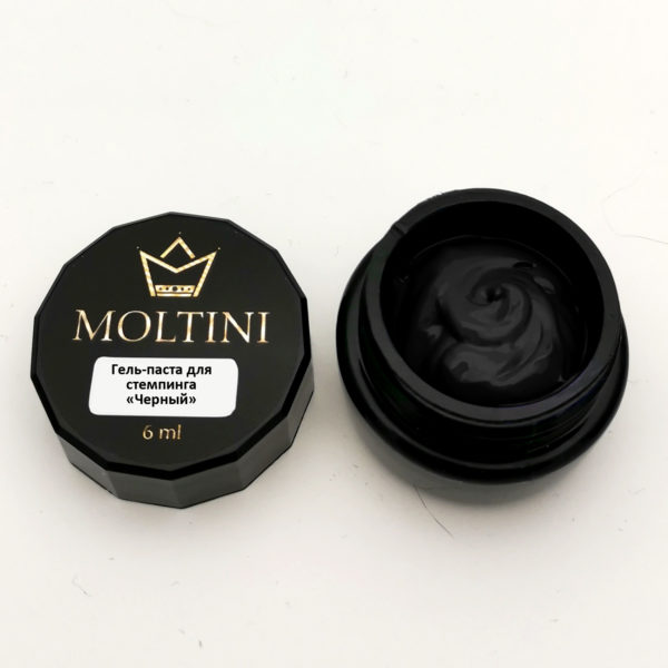 Гель-паста для стемпинга Moltini, черный 6 ml
