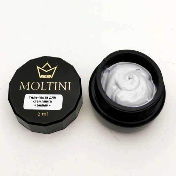 Гель-паста для стемпинга Moltini, белый 6 ml