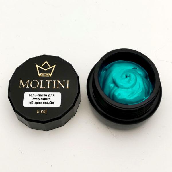 Гель-паста для стемпинга Moltini, бирюза 6 ml