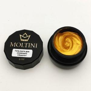 Гель-паста для стемпинга Moltini, золото 6 ml