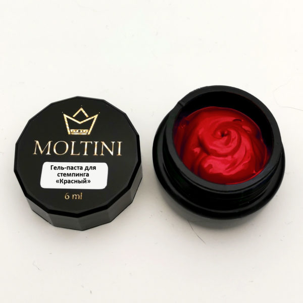 Гель-паста для стемпинга Moltini, красный 6 ml