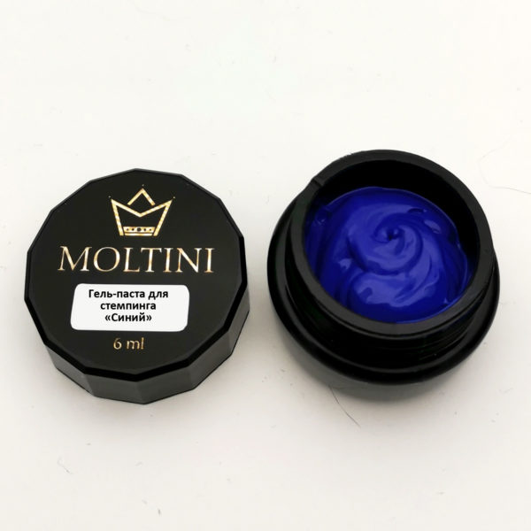 Гель-паста для стемпинга Moltini, синий 6 ml