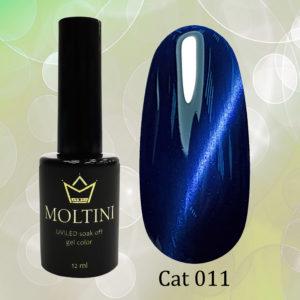 Гель-лак Moltini Cat Eye 011, 12 ml
