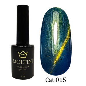 Гель-лак Moltini Cat Eye 015, 12 ml