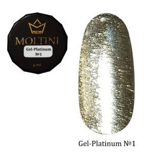 Гель-лак Moltini Platinum 01, 6 ml