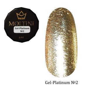 Гель-лак Moltini Platinum 02, 6 ml