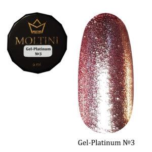 Гель-лак Moltini Platinum 03, 6 ml