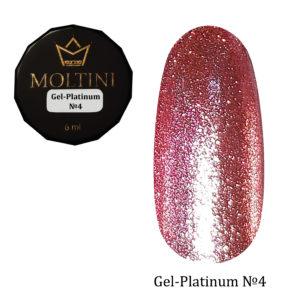 Гель-лак Moltini Platinum 04, 6 ml