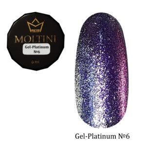 Гель-лак Moltini Platinum 06, 6 ml
