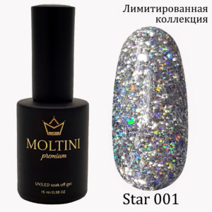 Гель-лак Moltini Premium STAR 001, 15 ml