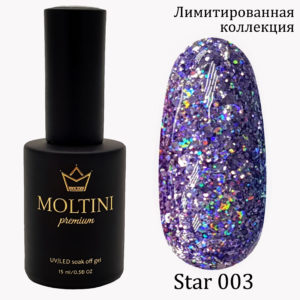 Гель-лак Moltini Premium STAR 003, 15 ml