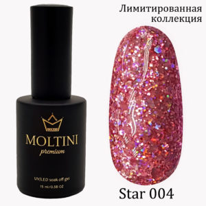 Гель-лак Moltini Premium STAR 004, 15 ml
