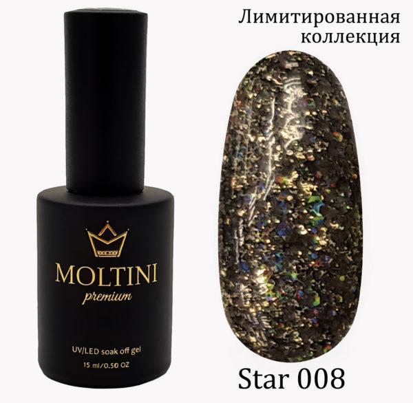 Гель-лак Moltini Premium STAR 008, 15 ml