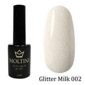 Гель-лак Moltini GLITTER MILK 002, 12 ml