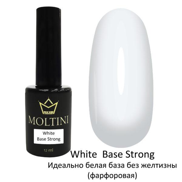 Каучуковая камуфлирующая база Moltini White Base Strong, 12 ml