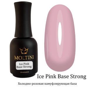 Каучуковая камуфлирующая база Moltini Ice Pink Base Strong 20 мл.