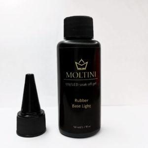 Бескислотная каучуковая база Moltini Rubber Base Light, 50 ml (в бутылочке с носиком)