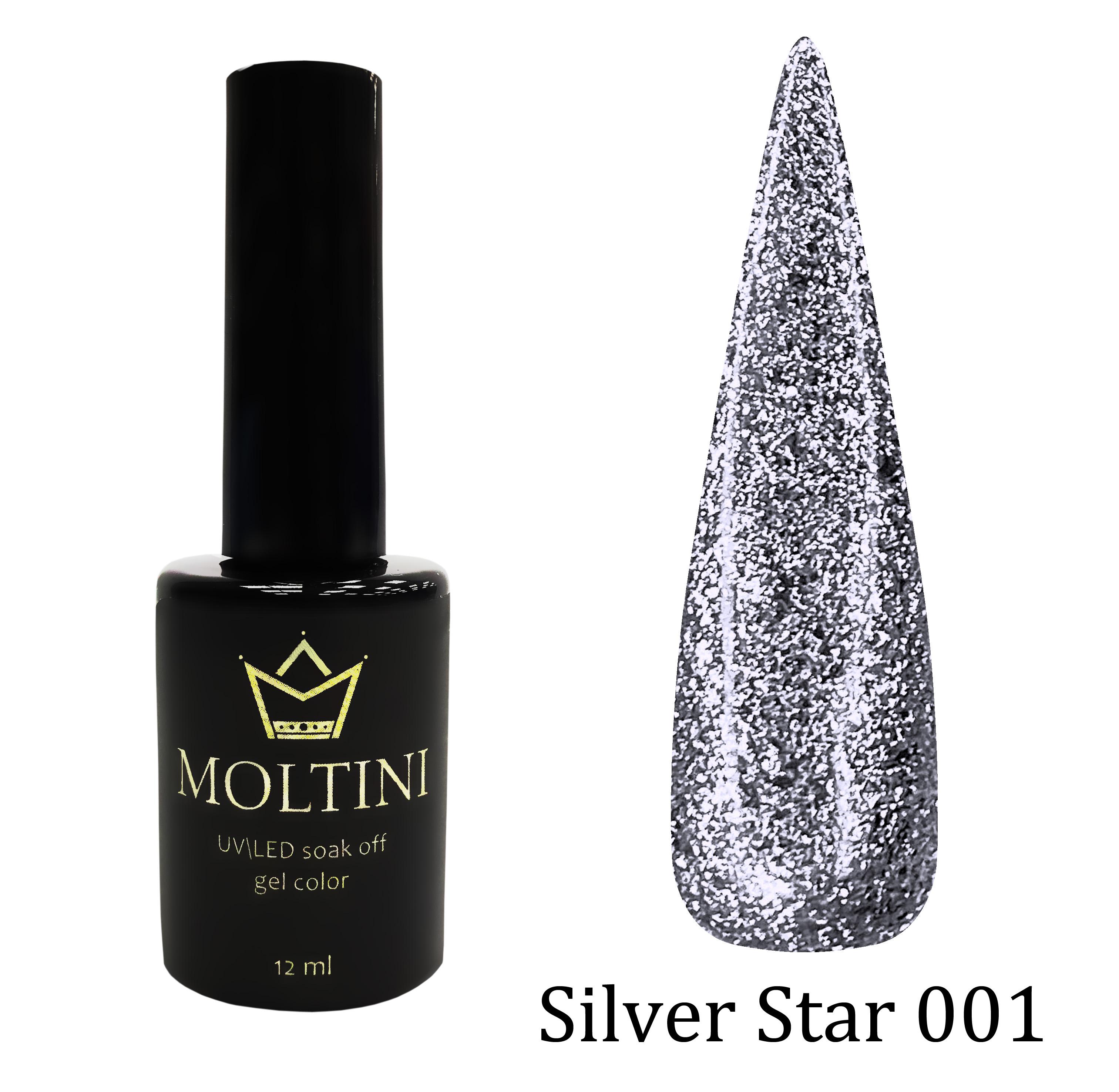 Гель-лак Moltini Silver Star 001, 12 ml