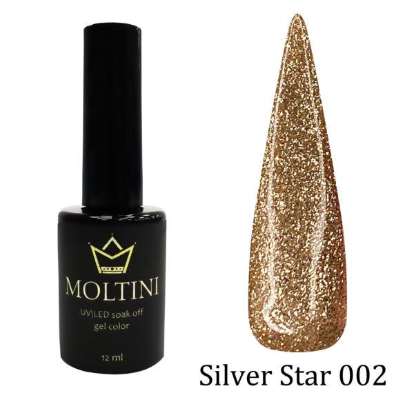 Гель-лак Moltini Silver Star 002, 12 ml