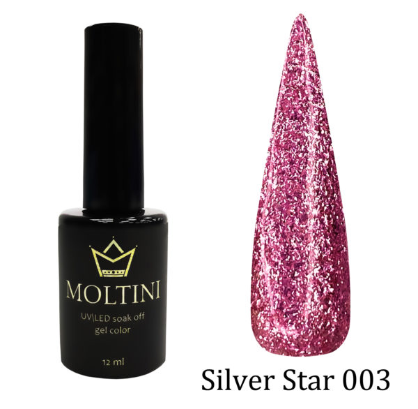 Гель-лак Moltini Silver Star 003, 12 ml