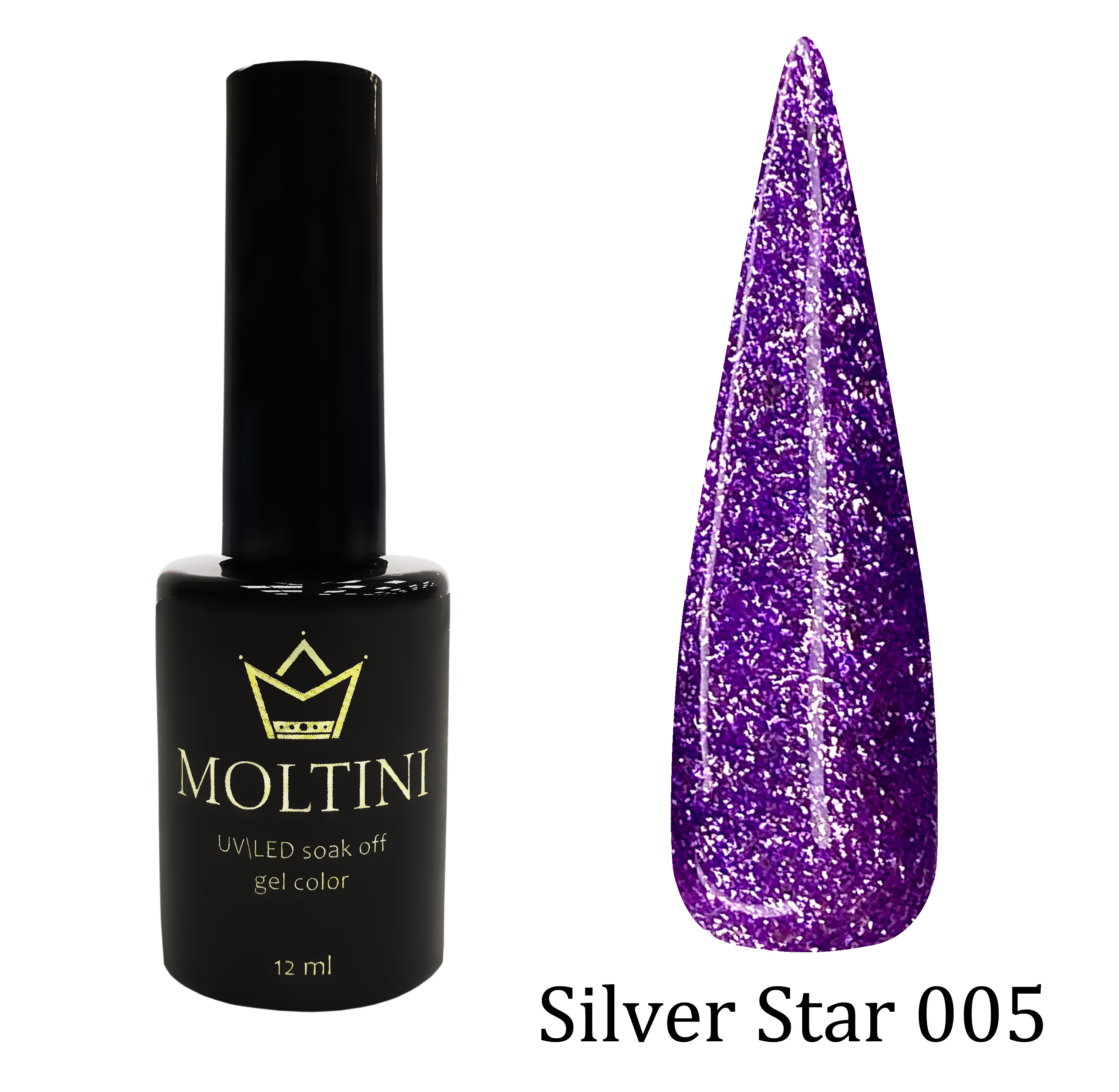 Гель-лак Moltini Silver Star 005, 12 ml