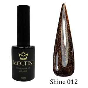 Гель-лак Moltini Shine 012, 12 ml