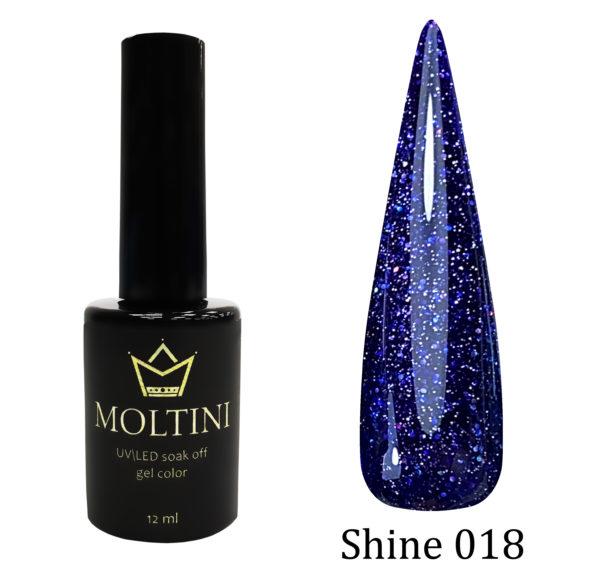 Гель-лак Moltini Shine 018, 12 ml