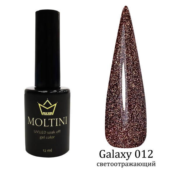 Гель-лак Moltini Galaxy 012, 12 ml