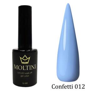 Гель-лак Moltini Confetti 012, 12 ml