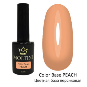 Moltini Цветная база Color Base PEACH (персиковая) 12 мл.