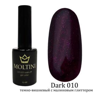 Гель-лак Moltini Dark 010, 12 ml